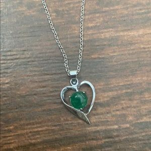 18k Gold Plated Jade Heart Necklace